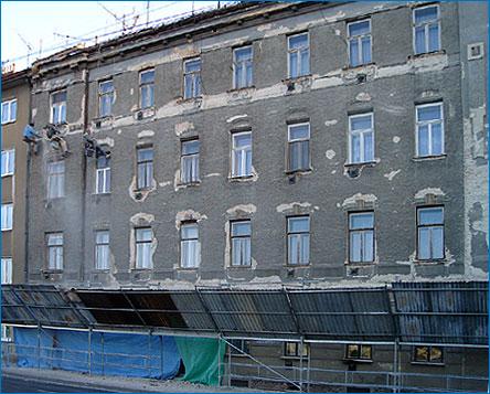 Rekonstrukce fasády postup